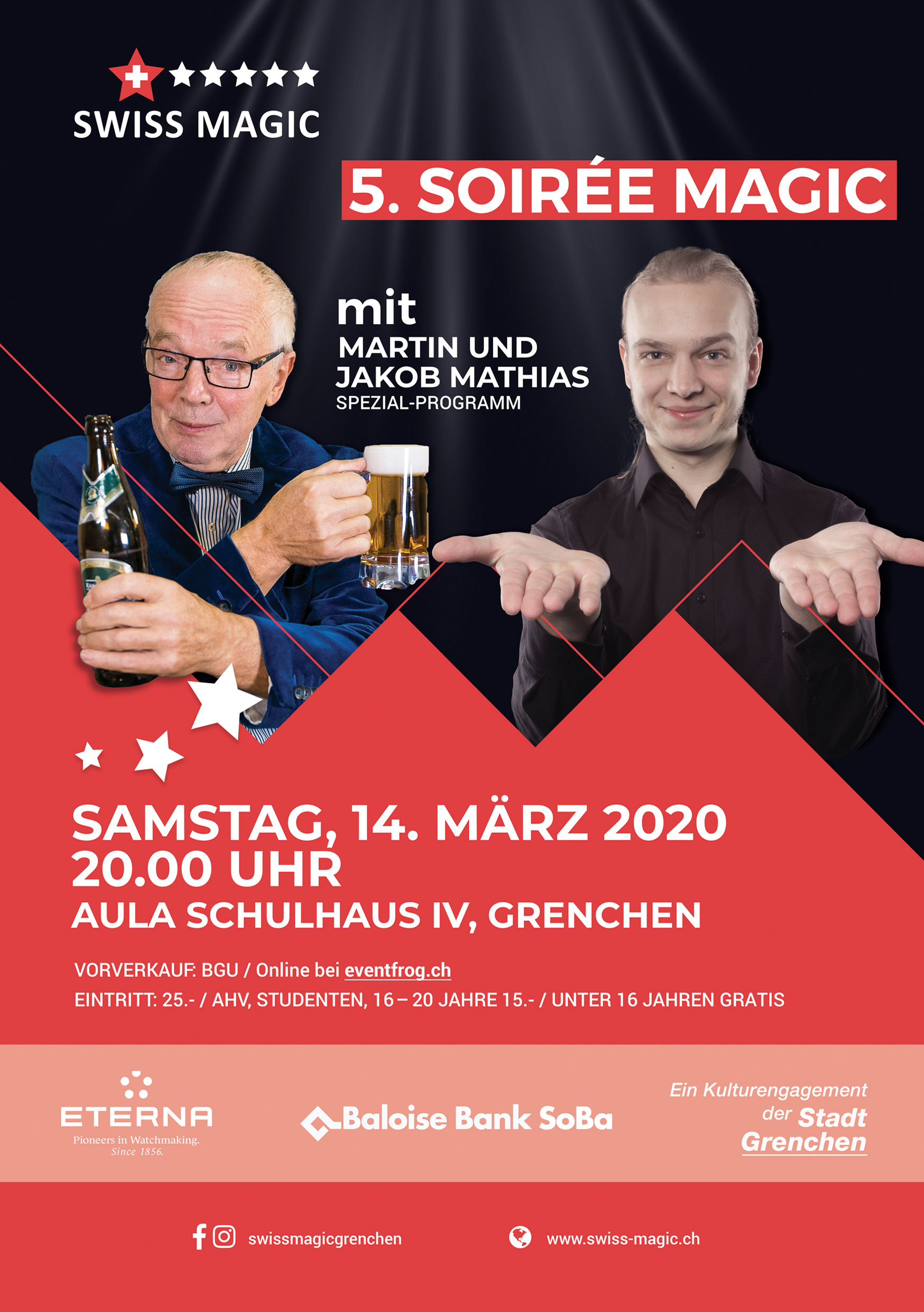 5. Soirée Magic – Zaubershow mit Martin & Jakob Mathias