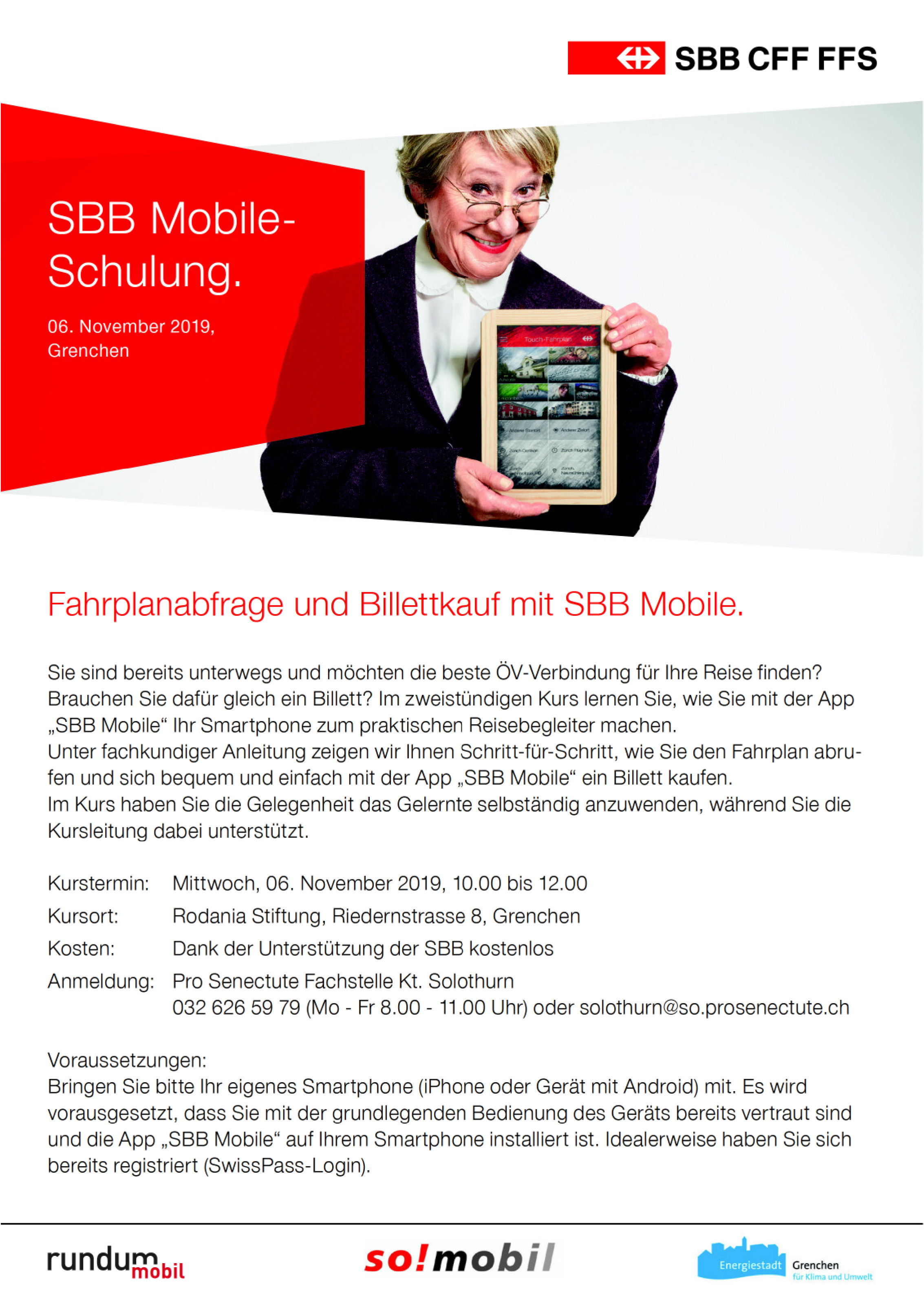 SBB Mobile-Schulung Grenchen
